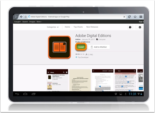 authorise ebook reader adobe digital editions