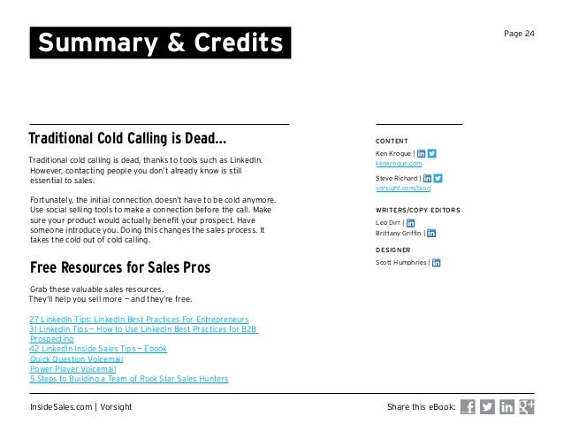 cold calling is dead ebook