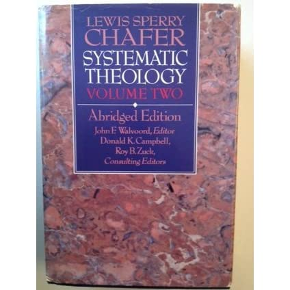 lewis sperry chafer systematic theology ebook